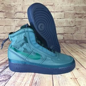 """Nike Air Force 1 """"Shell"""" Midnight Turquoise W 10.5"""